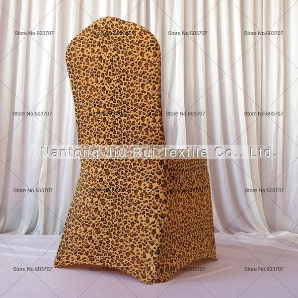 Peachy Leopard Print Lycra Chair Cover Flat Front For Wedding Decoration Party High Quality Spandex Chair Cover Cheap Wedding Chair Cover Rentals Slipcovers Squirreltailoven Fun Painted Chair Ideas Images Squirreltailovenorg