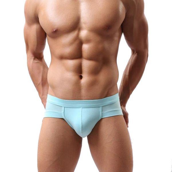 Wholesale-2016 Brand New Mens Briefs Modal Underwear Men Comfortable Sexy Men's U Convex Pouch Briefs Men calzoncillos Underpants Shorts