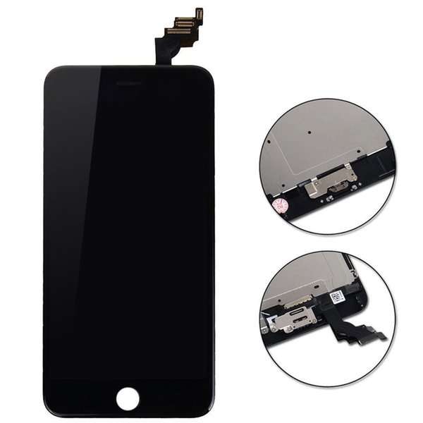 100% Guarantee Test LCD For iPhone 6 plus LCD Display With Touch Screen Digitizer Assembly White/Black