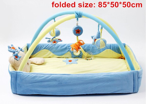 One Piece Pink/Blue Baby Musical Activity Gym Play Mat Toy Soft Kids Indoor Blanket Crawling Pad Cheap