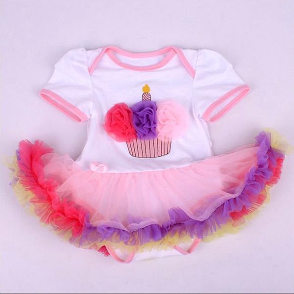 r cumpleaos de la corona apliques infantil de moda para fiestas tuts mamelucos del beb macaco bebe roupa infantil beb recin nacido romper ropa