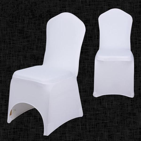 50 Stück Stuhlhussen Hochzeit Stretch Stuhlbezug Elastisch Stuhl Weiß Universal
