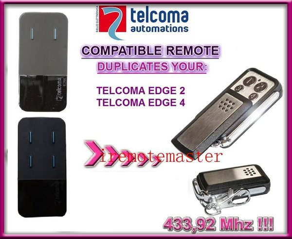 High quality and favorable price! AFTERMARKET TELCOMA EDGE2/EDGE4 remote control replacement/garage door opener 433.92MHZ