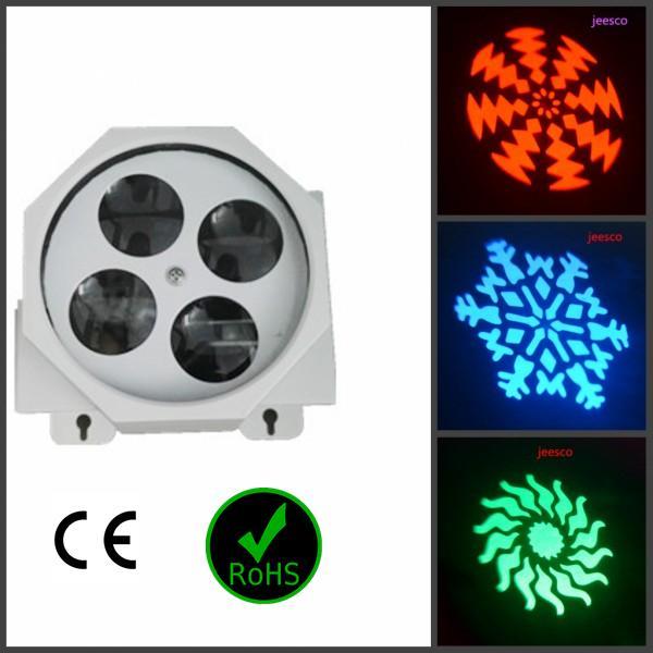 최신 LED 효과 Gobo 조명 / 스포트 라이트 4pcs * 3w 무대 파티 디스코 나이트 클럽 Dj 8CH 사운드 컨트롤