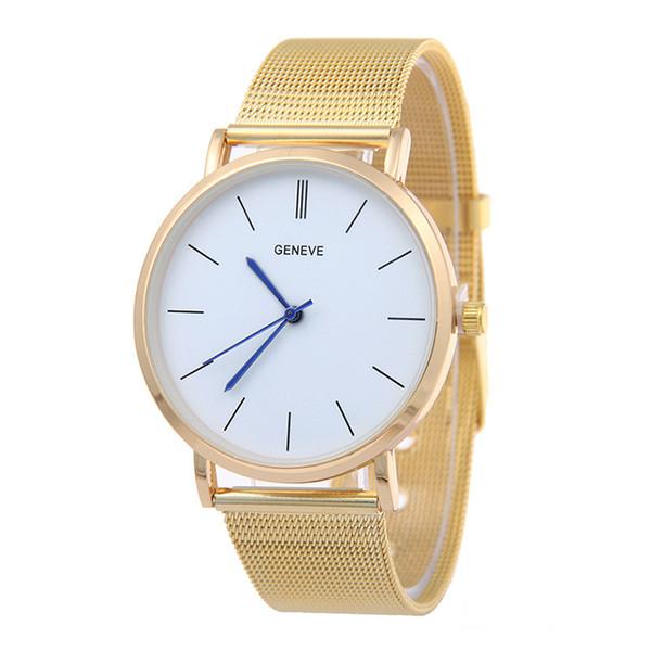 top popular 2016 New Famous Brand Silver Casual Geneva Quartz Watch Women Mesh Stainless Steel Dress Women Watches Relogio Feminino Clock 2019