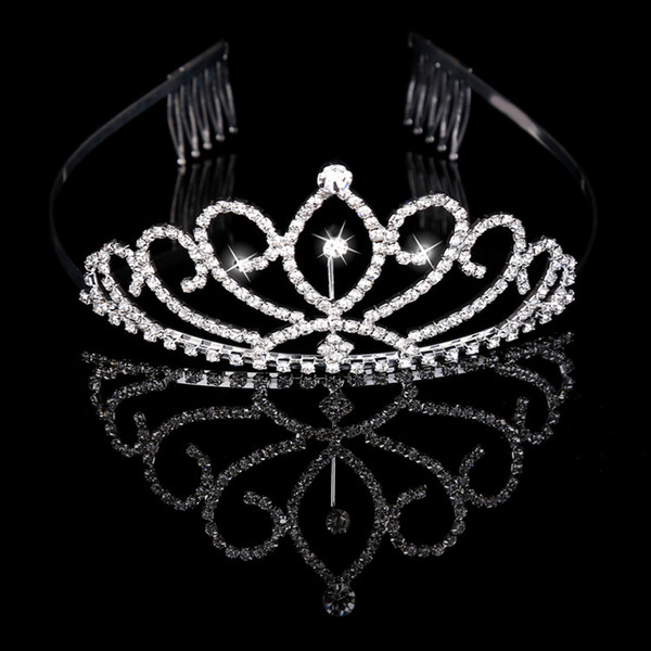 best selling Bridal Tiaras Crowns With Rhinestones Bridal Jewelry Girls Evening Prom Party Performance Pageant Crystal Wedding Tiaras Accessories#BW-T015