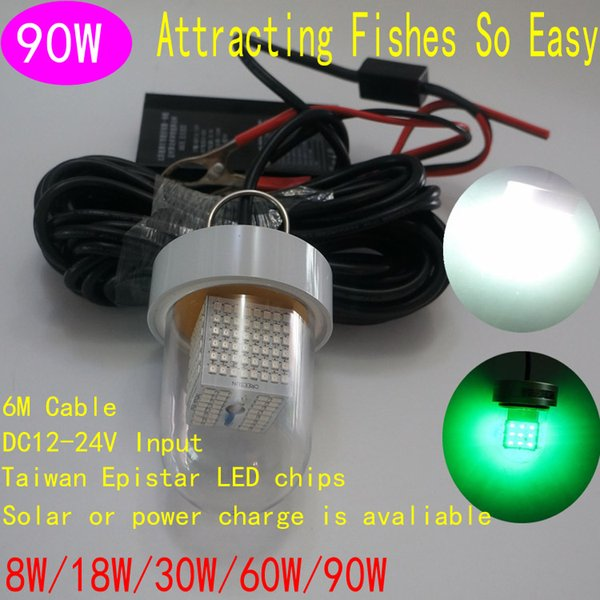 new arrival solar led fishing lights 90w green white underwater, Reel Combo