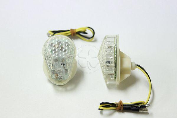 best selling 2x JDM Style Flush Mount Clear Lens 15 Amber LED Turn Signal Light Blinker Indicator Side Marker For Yamaha YZF R1 R6 2003-2008