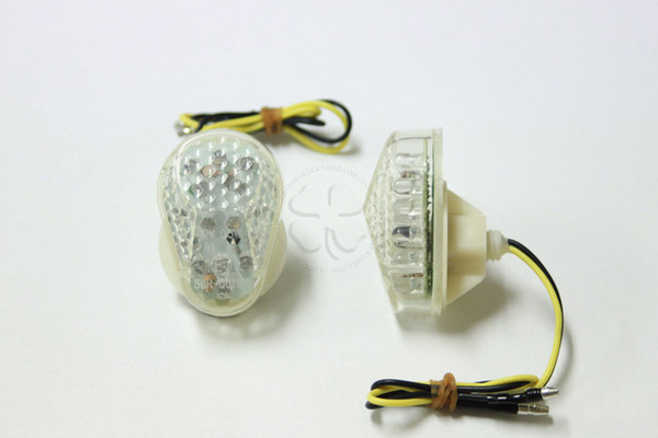 top popular 2x JDM Style Flush Mount Clear Lens 15 Amber LED Turn Signal Light Blinker Indicator Side Marker For Yamaha YZF R1 R6 2003-2008 2021