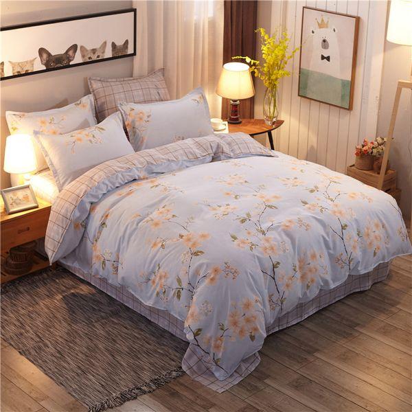 Queen Size Bedding Sets Clearance.Garden Floral Bedding Set Blue Comforter Set Duvet Cover Bed Sheet Sets Single Double Queen King Size Bedding Black And White Bedding Sets Clearance