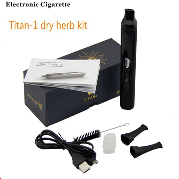 hierba seca vaporizador Titan 1 kit negro