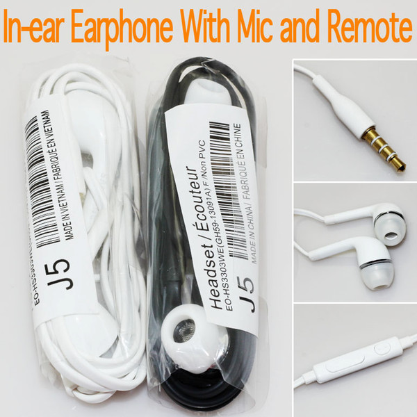 top popular Earphone In-Ear Headset Stereo with Mic and Remote Headphone for Galaxy S7 S6 S5 S4 100pcs up 2021