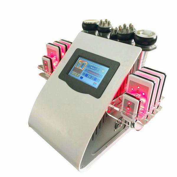 High Quality 40k ultrasonic cavitation rf vacuum machine 8 Pads lipolaser slimming beauty machine Vacuum RF Skin Care Salon Spa Equipment
