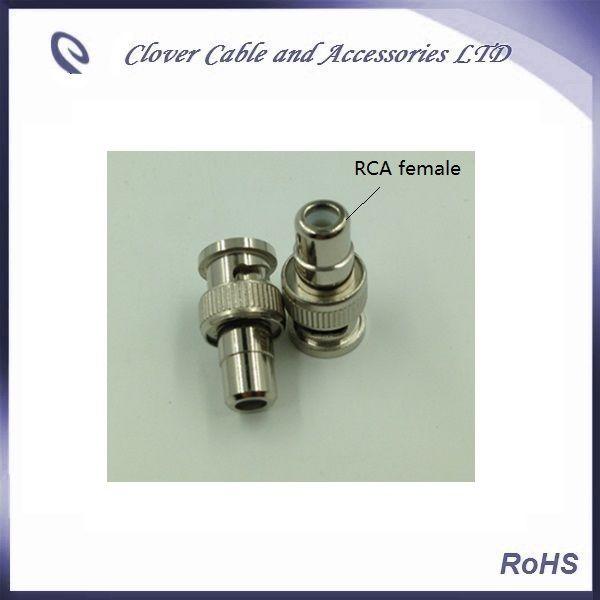 Buona qualità e trasporto libero 10PCS / lotto BNC maschio a connettore RCA dell'adattatore femminile di RCA dell'AV