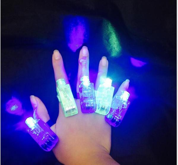Sihirli parmak ışıkları Parlak LED lazer Parmak Yüzük Işık Lambası Kirişler Torch Için Parti KTV Bar rave işık glow lazer parmak yüzük işık