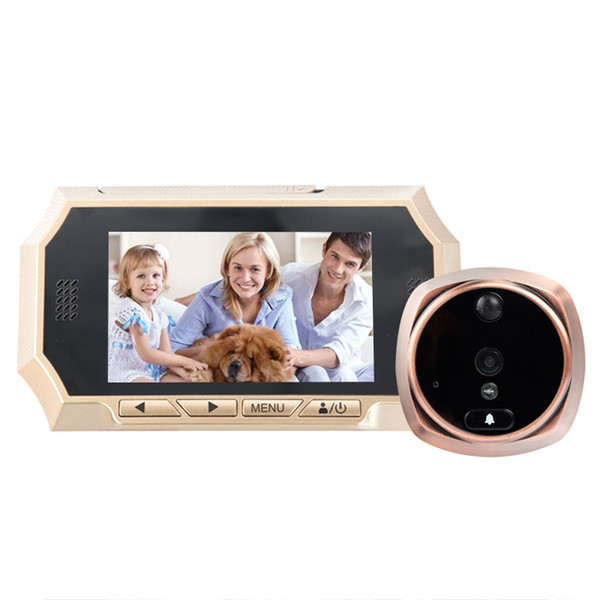 4.3inch video peephole door camera IR Night vision PIR Motion Sensor digital peephole Photos Taking Video Recording Max 32GB