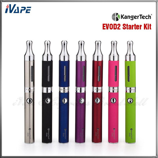 Authentic Hot Sale Kangertech EVOD 2 Starter Kit Kanger EVOD 2 Electronic Cigarette Kits With 650mha EVOD Battery and 1.6 ML EVOD 2 BDC Tank