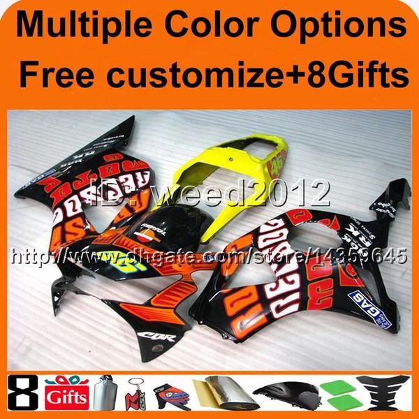 23colors + 8Gifts Rosarot Motorradverkleidung für HONDA CBR954RR 2002-2003 CBR954 RR 02 03 ABS Kunststoff Verkleidung