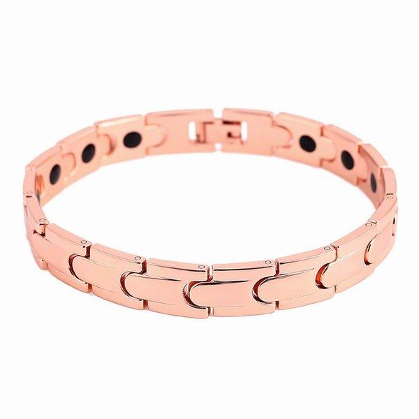 Top quality 22cm Men germnium titanium steel bio magenetic bracelets for men Punk link chain health benifits energy power bracelet wholesale