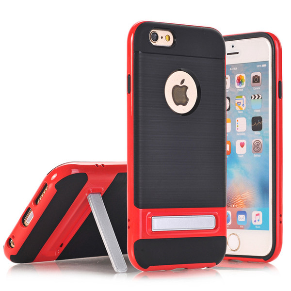Kickstand Rugged Armor Case Shockproof Tough Hybrid Robot Cases For iPhone X 8 6 6S 7 Pus Samsung S7 edge S8 Plus