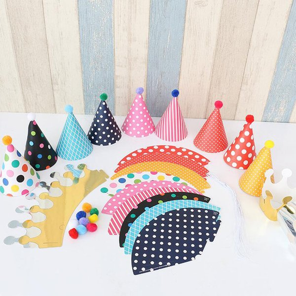 Cute Party Hats One Full Year Of Life Baby Photograph Items Birthday Celebration Decorations Kids Hot Sale 4 2hp J