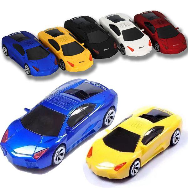 Super Cool Mini Bluetooth Speaker Sports Car Shape Wireless Speakers Portable Loudspeakers Sound Box USB SD TF FM for Samsun IPAD 73-YX