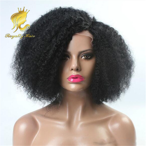Indian Hair 250% Density Glueless Full Lace Human Hair Wigs Kinky Curl African American Glueless Lace Front Human Hair Wigs Fast Shipping