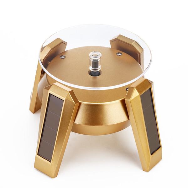Caliente de alta chapado en oro de plata Negro energía solar giratoria 360 del soporte de exhibición tabla de la vuelta de la placa para la joyería de la pulsera del collar Anillo