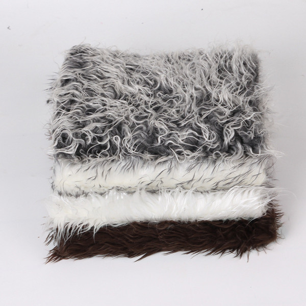 Новый европейский искусственного меха одеяло корзина писака Монголии меховой фотографии реквизит новорожденный дети фотографии реквизит