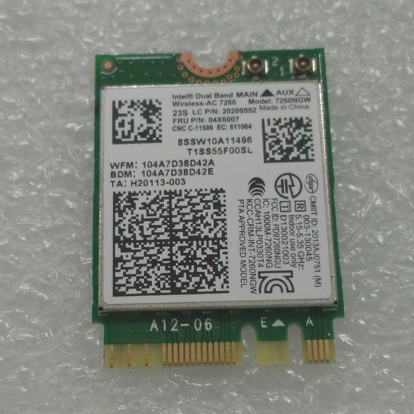 Drahtlose Adapter-Karte für Intel 7260NGW Wechselstrom 7260ac 2.4 / 5G BT4.0 04X6007 für Thinkpad lenovo X250 x240 x240s x230s t440 w540