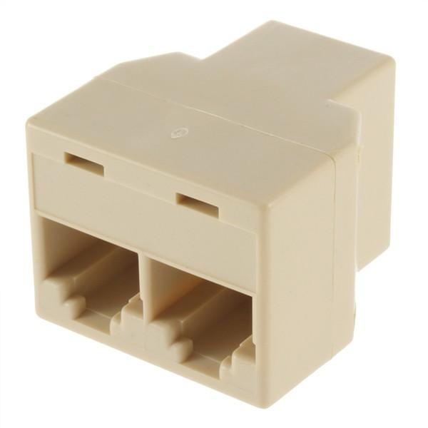 8P8C RJ45 for CAT5 Ethernet Cable LAN Port 1 to 2 Socket Splitter 1x2 Connector Adapter Coupler Tee Joint