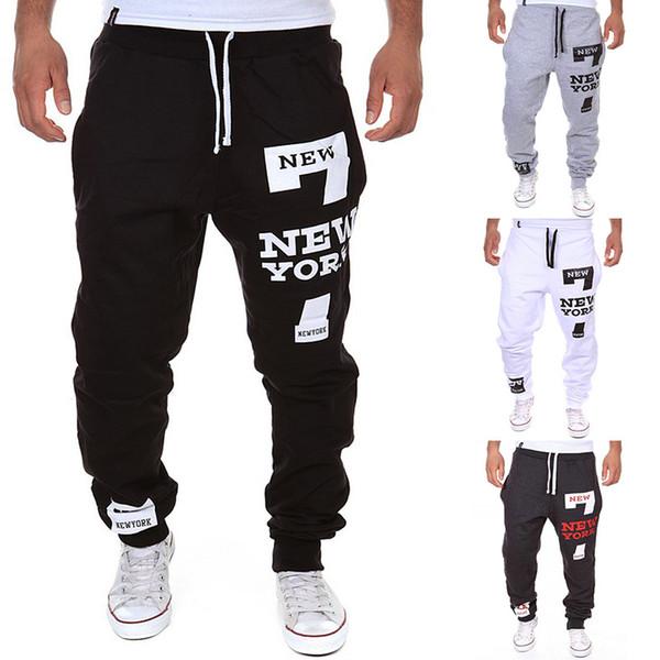 Atacado-Outdoor Men Esporte Calças Soltas Cartas Calça Impresso Sweatpants Confortáveis Corredores Masculinos Calças Calças 05