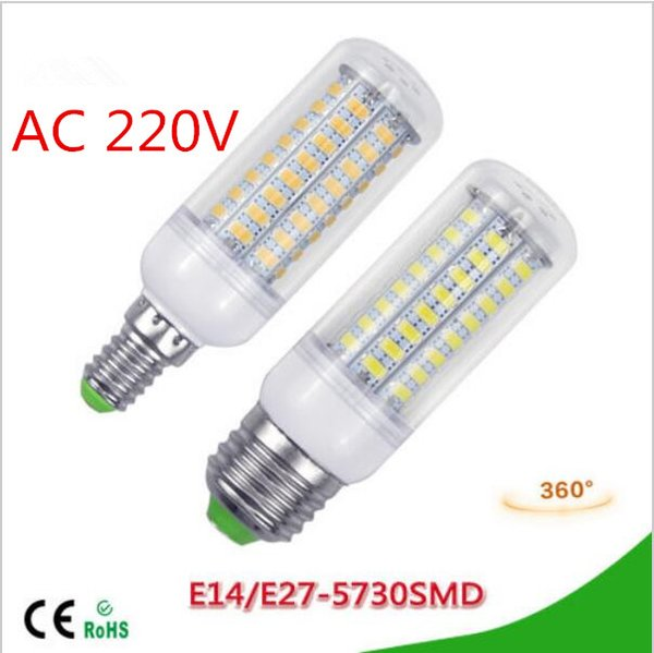 NEW LED lamp E27 E14 3W 5W 7W 12W 15W 18W 20W 25W SMD 5730 Corn Bulb 220V Chandelier LEDs Candle light Spotlight