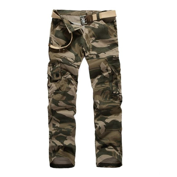 free shipping 2016 spring and autumn new men in camouflage pants large size multi-pocket casual trousers tooling