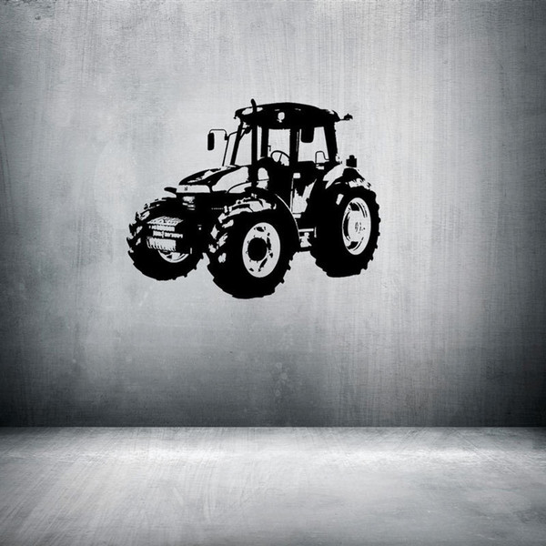 Free Shipping: Middle Sized 3D DIY Tractor Car Truck Vehicle Pattern PVC Decals/Adhesive Family Wall Stickers Sport Mural Art Home Decor