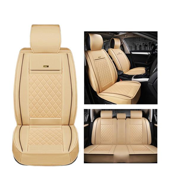 Housses de siège de voiture en cuir de luxe (avant + arrière) pour Mitsubishi ASX Lancer SPORT EX Zinger Outlander accessoires auto style de voiture