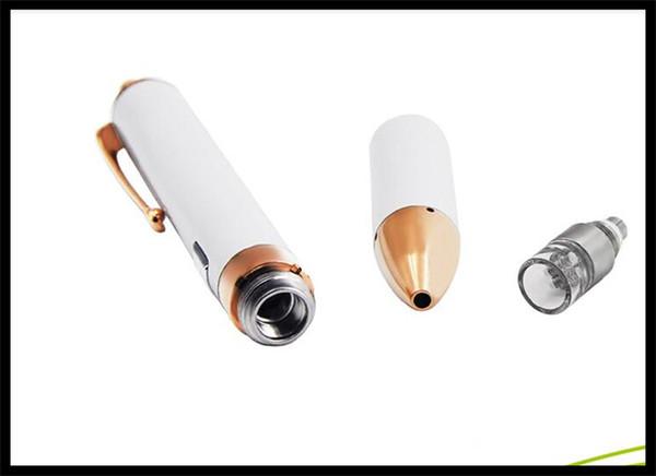 2017 Slim Wax Vaporizer Pen Quartz Concentrate Vape Quartz Rod Atomizer With Twisty Top Switch 3.2V~4.8V VV Battery pen clip set