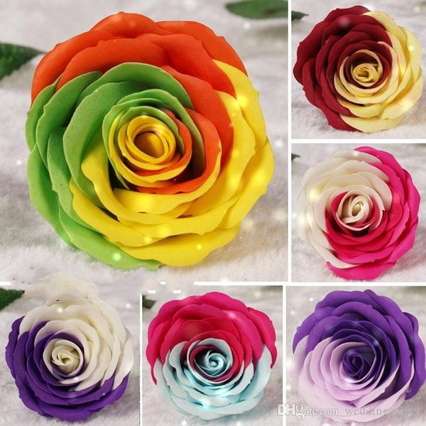 AAA quali colorful Rose Soaps Flower Packed Wedding Supplies Gifts Event Party Goods Favor Toilet soap Scented bathroom accessories