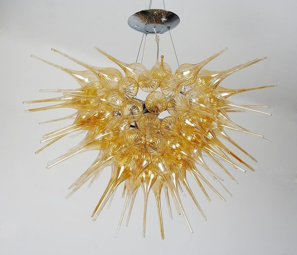Home Decoration Cheap Crystals For Chandeliers Free Shipping Petunia Design Medium Size Art Murano Christmas Lights