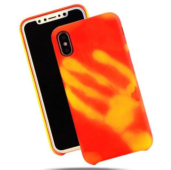 Thermosensible Physique Capteur Thermique Décoloration Drôle Matte TPU Cas Sensible À La Chaleur Couverture Arrière Fingerprint pour iphone X 8 7 6 6 S plus