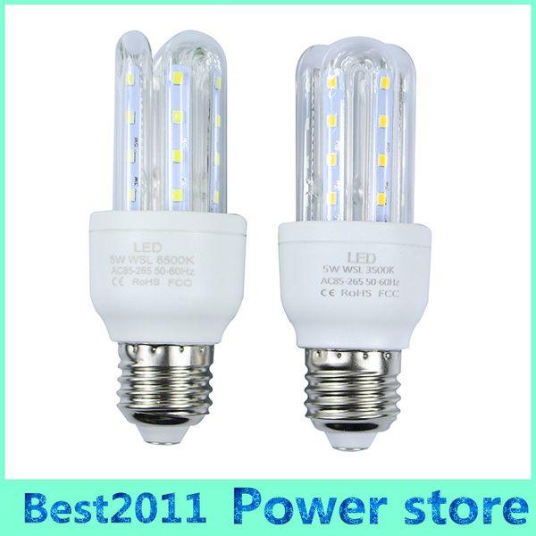Small Order E27 5W LED Corn Light Bulbs U Shape Lamp Energy Saving  White/Warm White For Living Room Hallway Hotel Kitchen Electric Bulb Bulbs  Direct ...