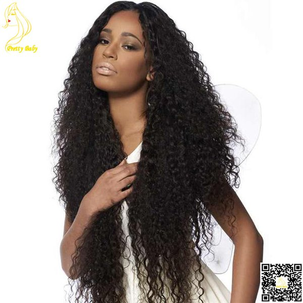 Malaysian Kinky Curly Human Hair Full Lace Wig Long Kinky Curl Lace Front Human Hair Wig Unprocessed Glueless