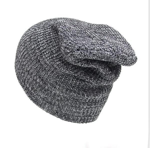 Winter Casual Cotton Knit Hats For Women Men Baggy Beanie Hat Crochet Slouchy Oversized Ski Cap Warm Skullies