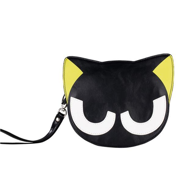 Kukucos Anime Qute LuoXiaoHei Small Diagonal Package Cartoon Purse Black Cat Portable Child Bag