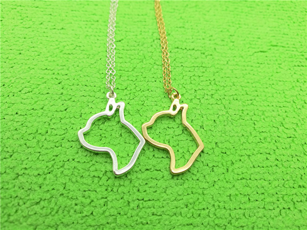 5PCS Cute Boston Terrier Necklace Bull Terrier Pendant Animal Necklace Pup Pug Puppy Dog Head Face Necklaces for Pet Memorial Gifts