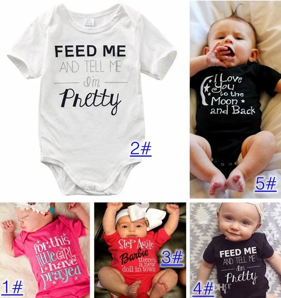 Baby Pagliaccetti Suit Summer Infant Triangle Pagliaccetto Onesies 100% cotone Bambini manica corta vestiti bambina rosa bianco taglie forti in stock