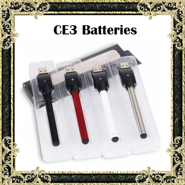 Hot CE3 Batteries BUD Touch Pen 280mAh E Cigarettes Batteries With USB Charger Retail Box Fit 510 Cartridges CE3 Atomizer Tank