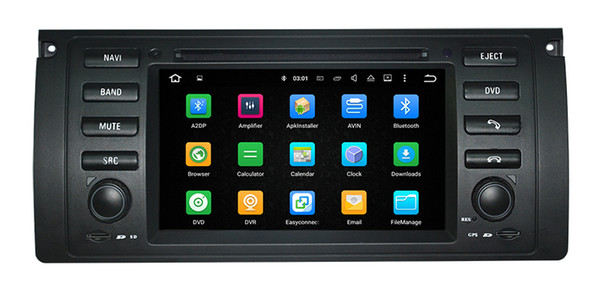Android9.0 octa core 1024x600 HD Car DVD Player For BMW 5 E39 X5 E53 M5 with car audio video car strero navigation