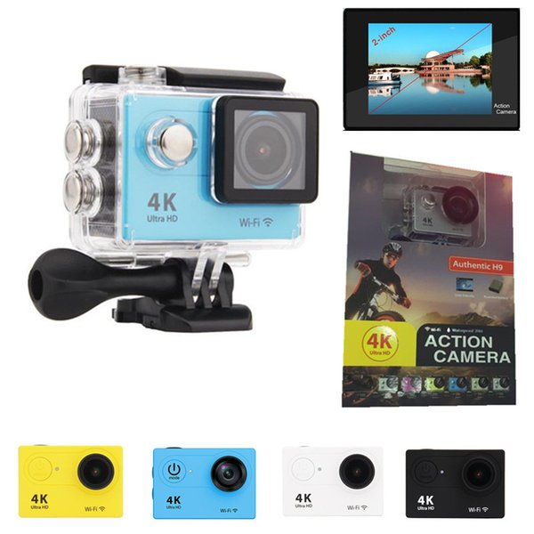4K Sport Action camera H9 H9R With Remote Control Ultra HD WiFi HDMI 1080P 2.0 LCD 170D pro Sports Camera Waterproof 5 Color