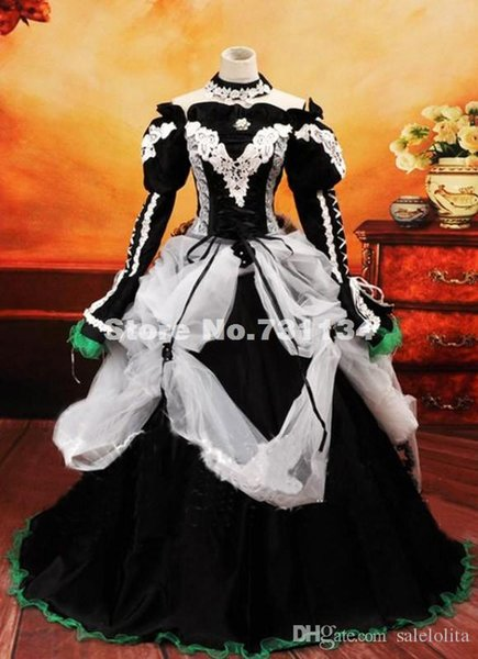 2015 Luxury Anime Vocaloid MIKU KAITO Cantarella Formal Dress Cosplay Costume Victorian Dress Halloween Royal Gown